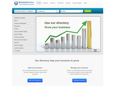 J directix joomla template for business directory cms junkie j directix cheaphphosting Image collections
