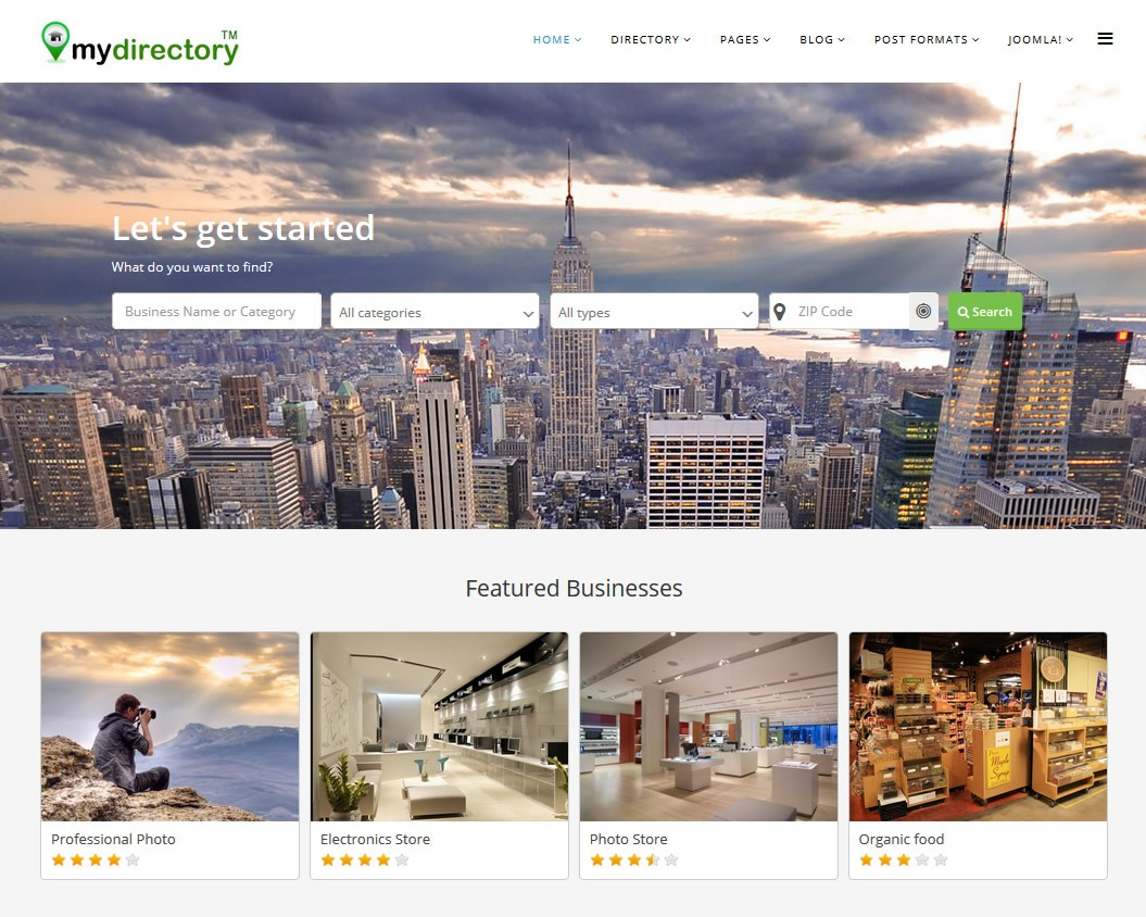 J mydirectory joomla template for directory cms junkie j mydirectory template wajeb Choice Image