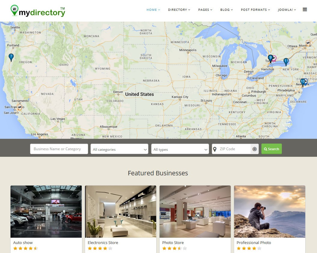 Joomla business directory j businessdirectory joomla extensions j businessdirectory view showcase cheaphphosting Image collections