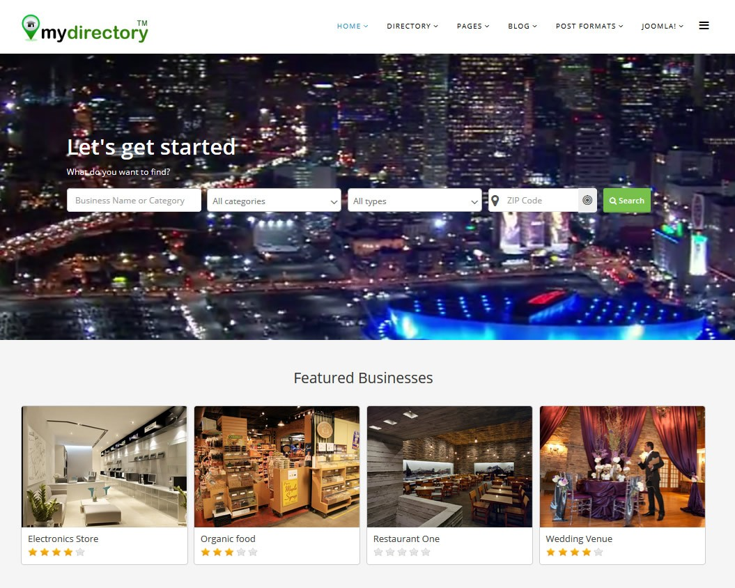 J mydirectory joomla template for directory cms junkie email to a friend accmission Choice Image