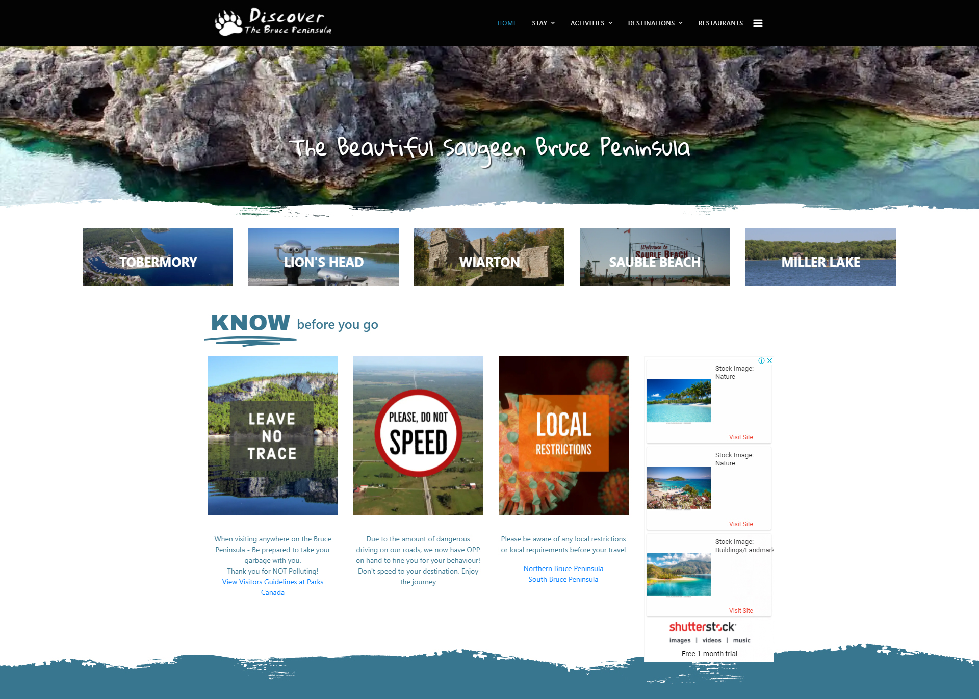 Discover The Bruce Peninsula